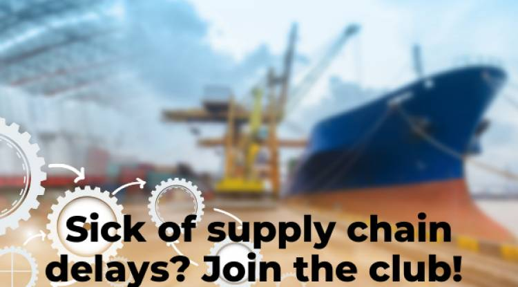 Sick of supply chain delays? Join the club!